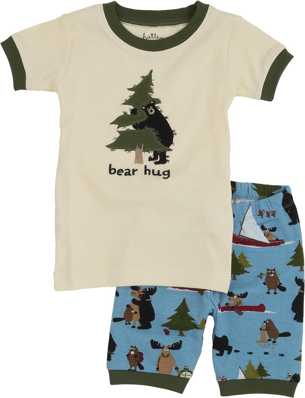 Little Blue House by Hatley Boys' Short Sleeve Appliqué Pajama Set
