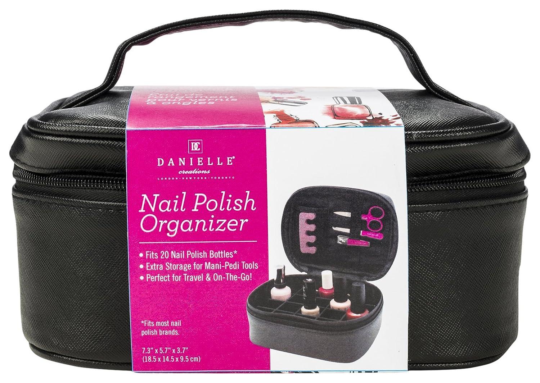 Uncategorized Nail Varnish Organiser danielle creations nail polish organiser case black amazon co uk beauty