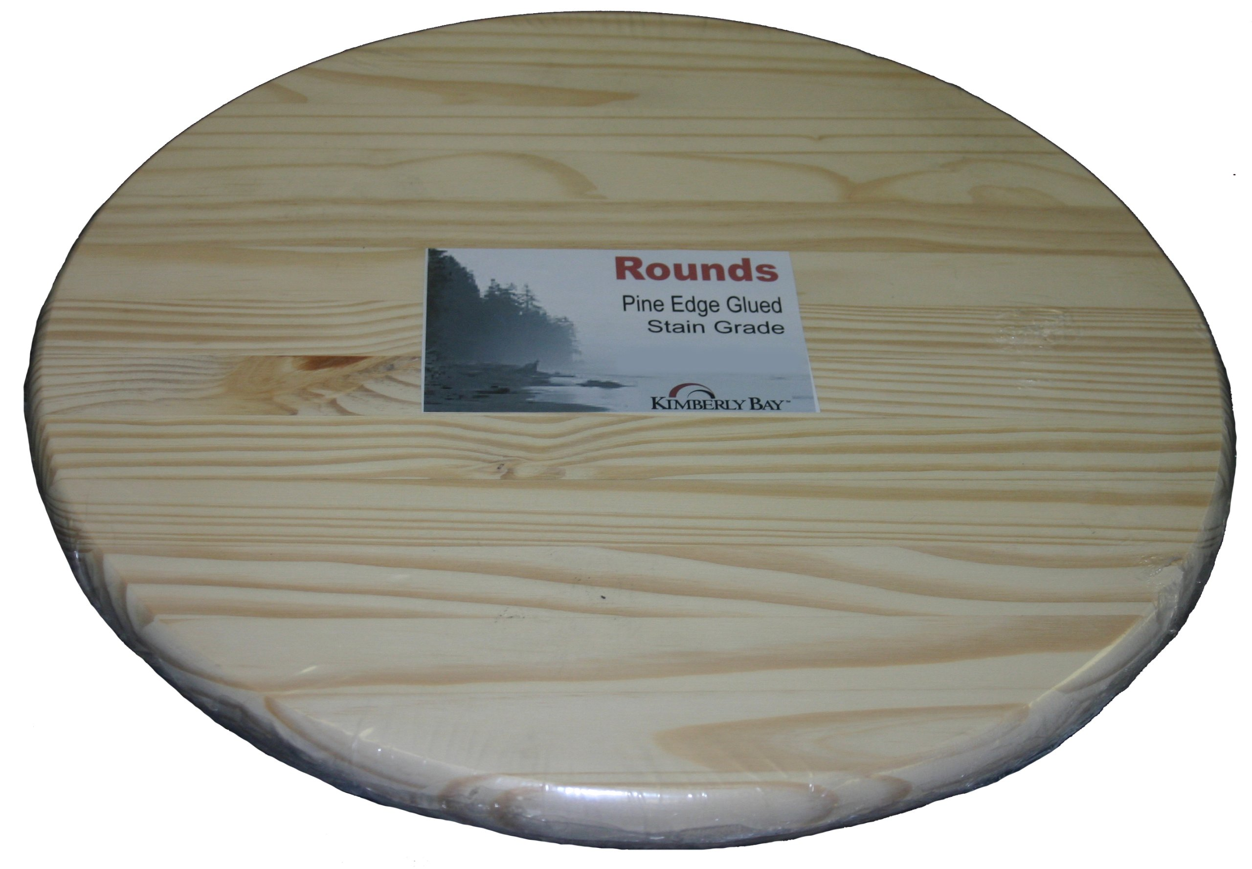 Edge Glued Pine Round by Kimberly Bay TM