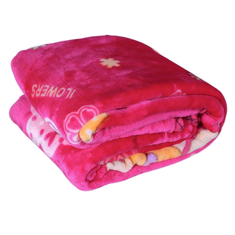 homescape Newborn Baby's Velvet Double Layer Blanket