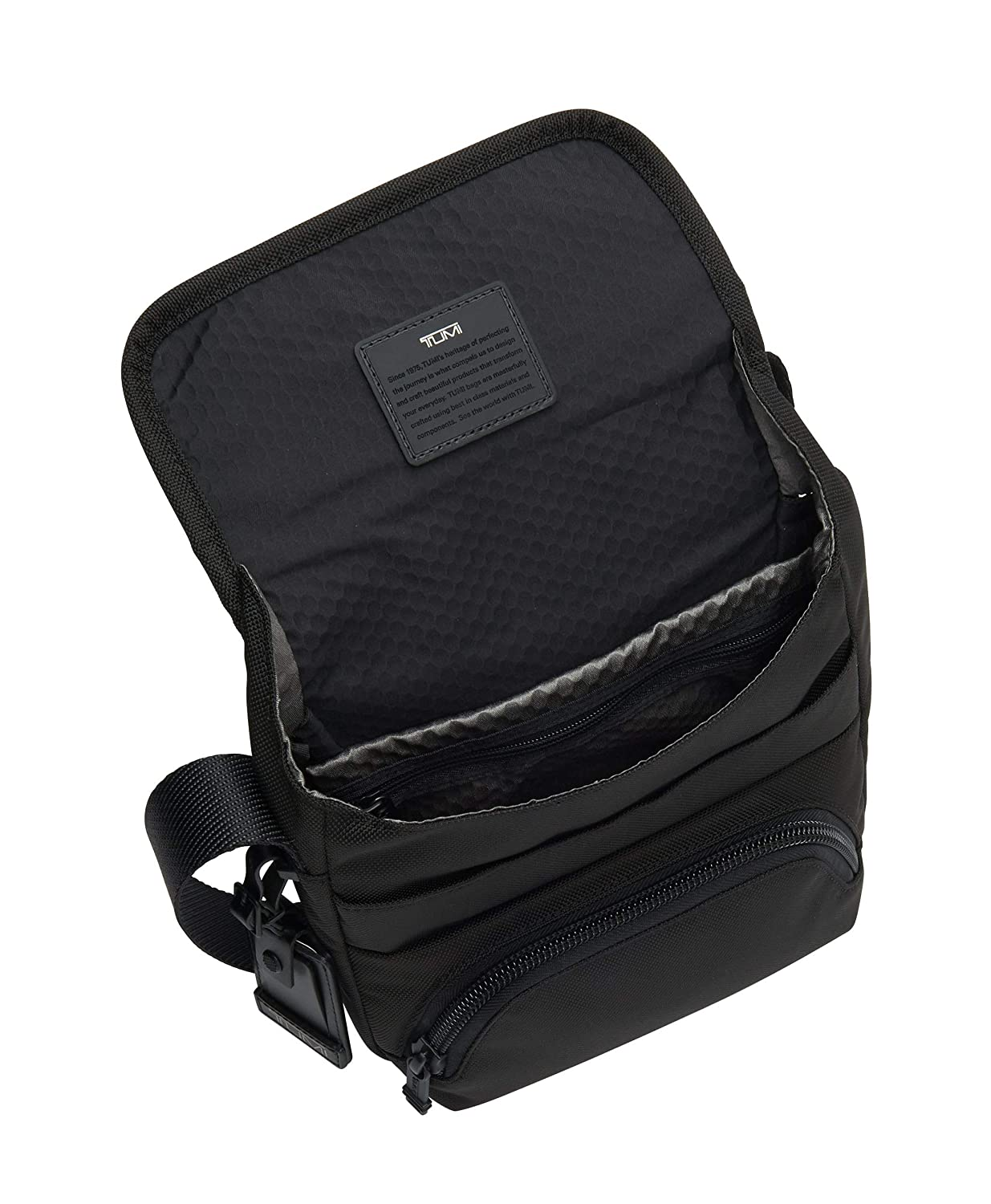 7d50bb594dc8 Amazon.com  TUMI - Alpha Bravo Barton Crossbody Bag - Satchel for Men and  Women - Black  iServe