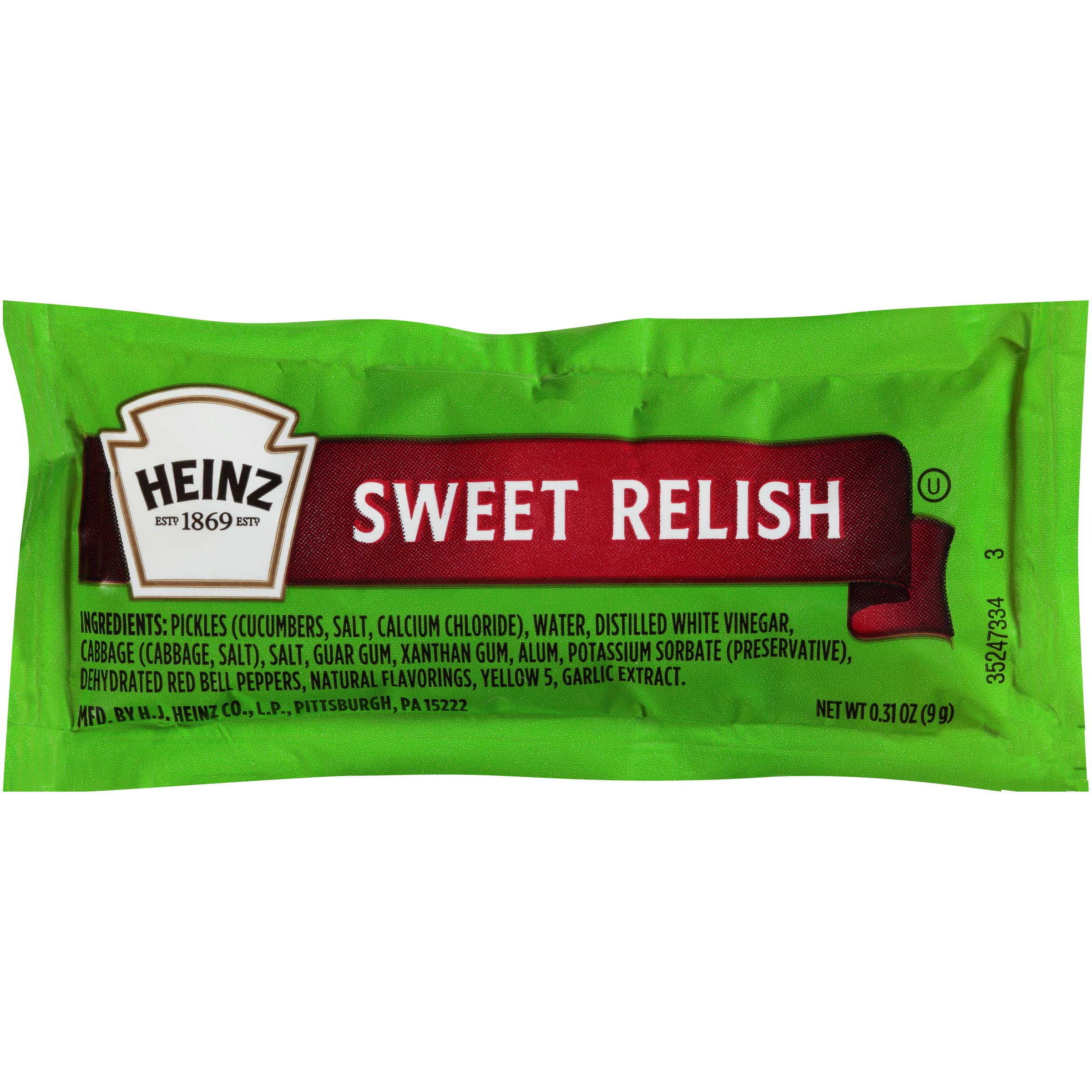 Heinz Sweet Relish Single Serve (0.3 oz Packets, Pack of 200) by Heinz