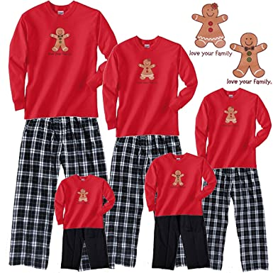 gingerbread girl red pajama set adult large ls cbw plaid pants