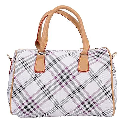 b1194469fa Bagaholics Checks design Handbag Ladies Purse Shoulder Bag Gift for women  (White)  Amazon.in  Shoes   Handbags