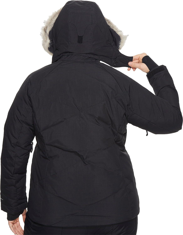 Black Metallic Columbia Womens Plus Size Lay D Down Jacket 2X