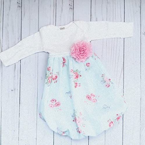 Amazon.com Newborn baby gown floral print shabby chic design. Baby girls clothing Handmade  sc 1 st  Amazon.com : shabby chic designs - amorenlinea.org