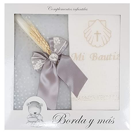 Pack Bautizo incluye paño Bautismal y Vela de cera blanca ...