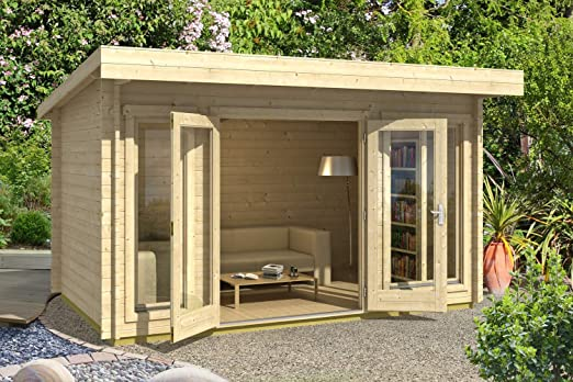 Lasita Maja Dorset 34 I - Caseta de jardín (grosor de la pared: 34 mm): Amazon.es: Jardín