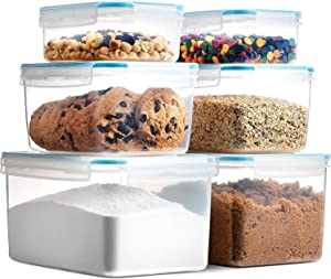 Komax Biokips Airtight Food Storage Containers With Lids | Set of 6 Kitchen Pantry Organization and Storage Containers | BPA-free Sugar, Flour, Dry Food Containers