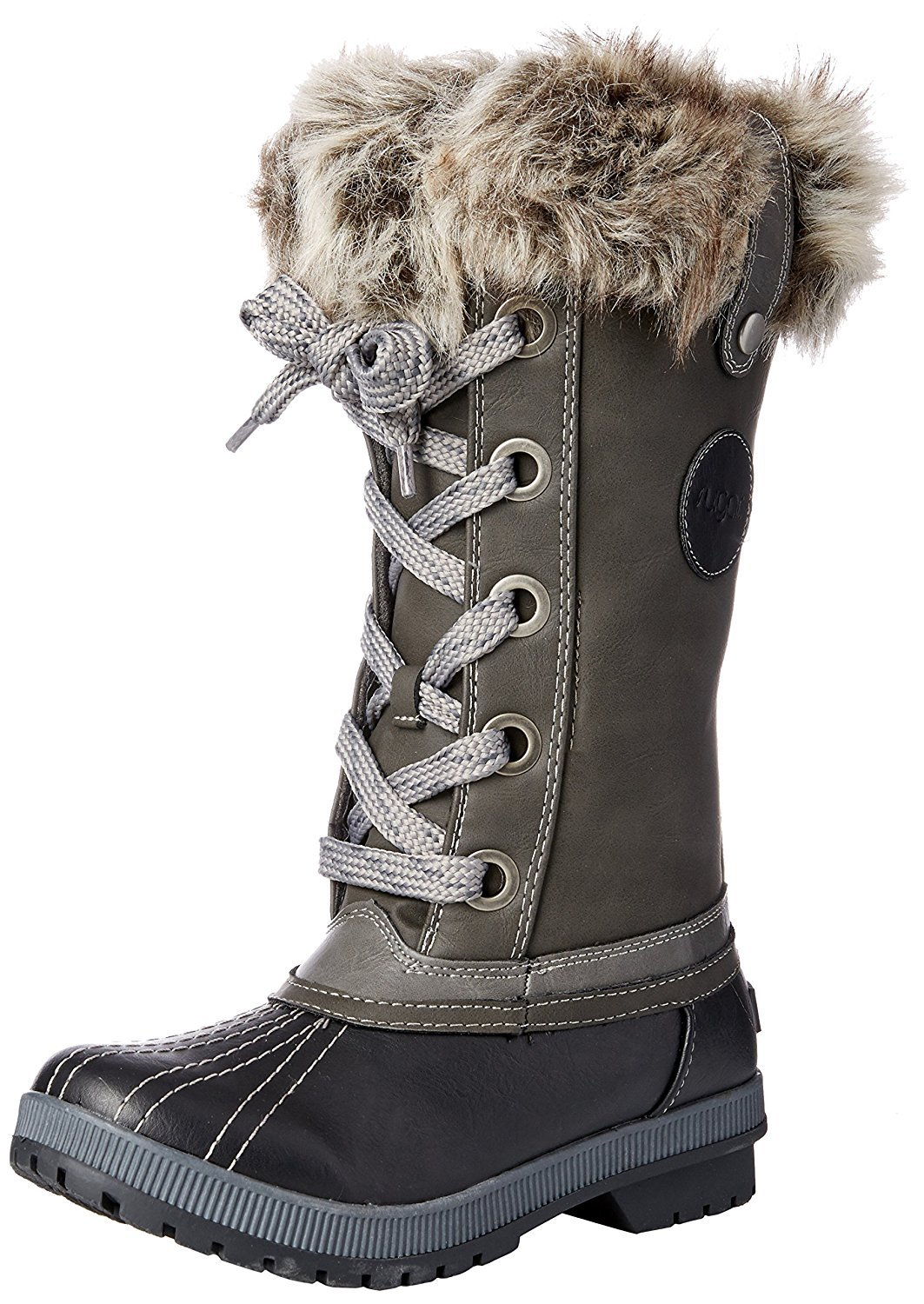 Sugar Women's SGR-Marlon Snow Boot, Black/Grey, 9 Medium US