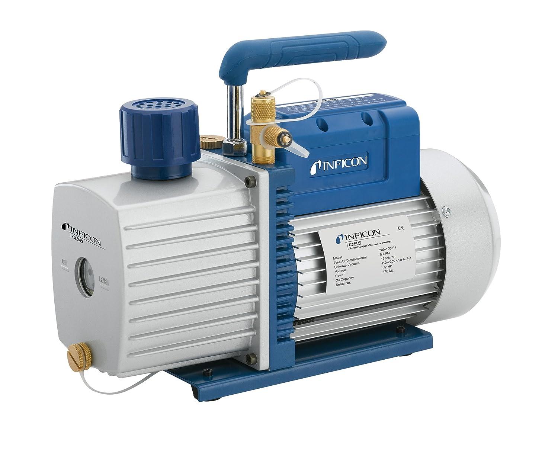 INFICON 700-100-P1 Model QS5 Vacuum Pump, 5 CFM Air Displacement, 110V/220V