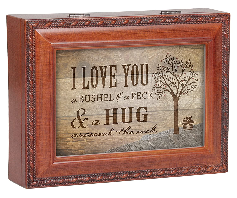 I Love You A Bushel & A Peck Wood Finish Jewelry Music Box Plays ...