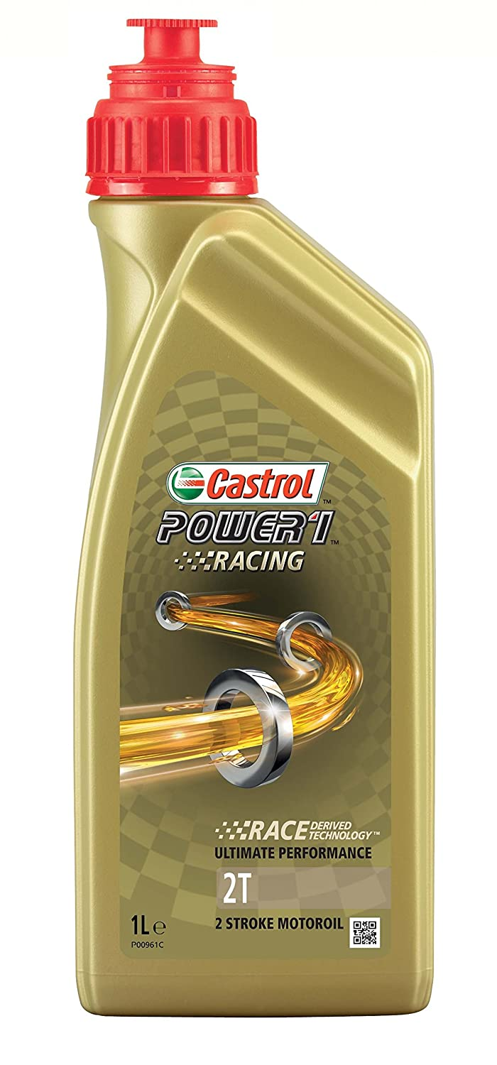 Castrol Power 1 Racing Aceite de Motores 2T 1L (Sello inglés): Amazon.es: Coche y moto