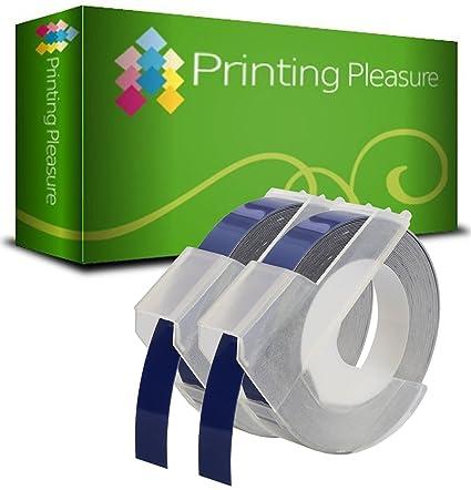 2-Pack Etiquetas de estampación 3D autoadhesivas Blanco sobre Azul ...