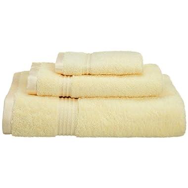 Superior 100% Long Staple Combed Cotton 3 Piece Bath Towel Set, Canary