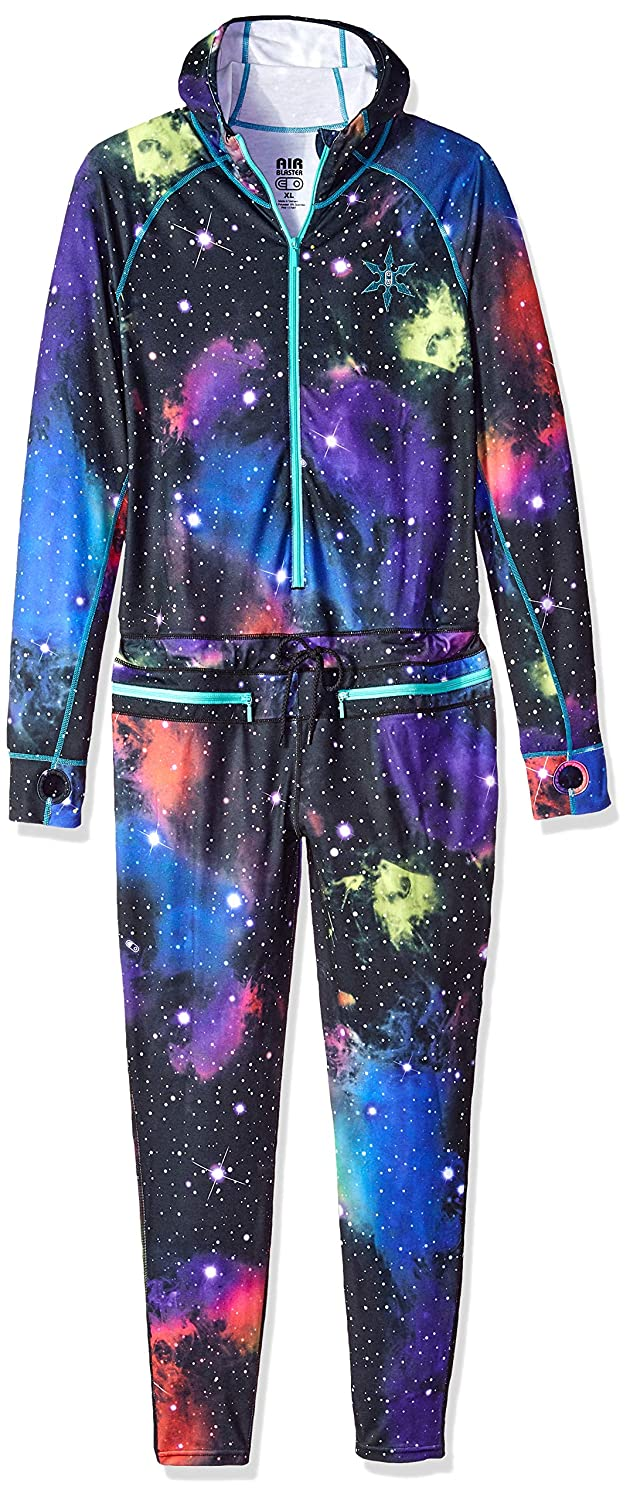 AIRBLASTER Womens Classic Ninja Suit Hooded Outdoor One Piece Base Layer, Far Out, XLarge