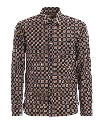 f433578a3498 BURBERRY Homme 8001129 Bleu Coton Chemise  Amazon.fr  Vêtements et ...