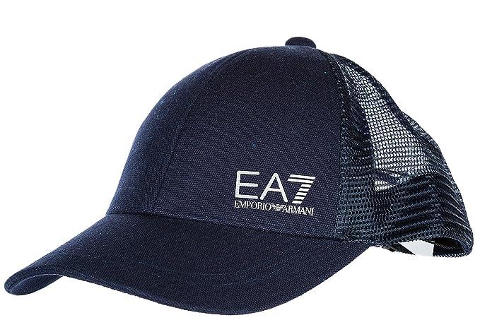 Emporio Armani EA7 cappello berretto regolabile uomo in cotone originale  train core blu EU UNI 2757708P50106935 ebc9c813378b