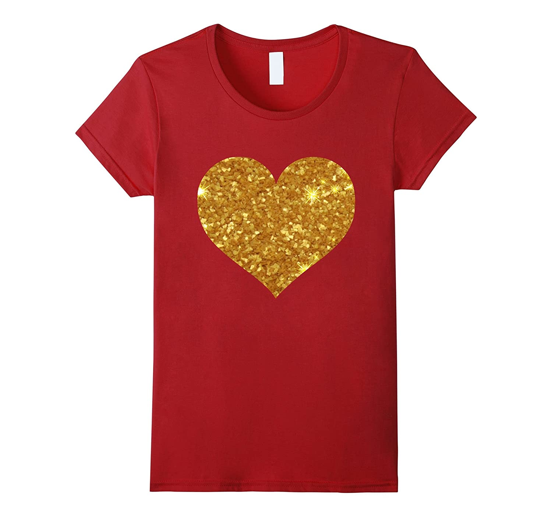 Womens Glitter T Shirt Valentines Day-Awarplus