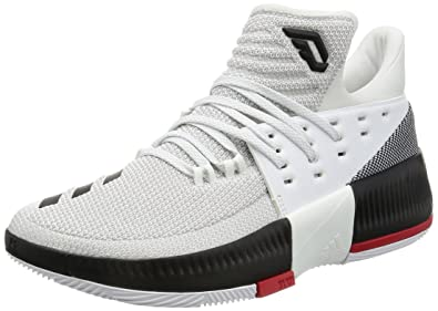 low priced 1fe52 a792b adidas D Lillard Dame 3 Mens Basketball SneakersShoes-White-7