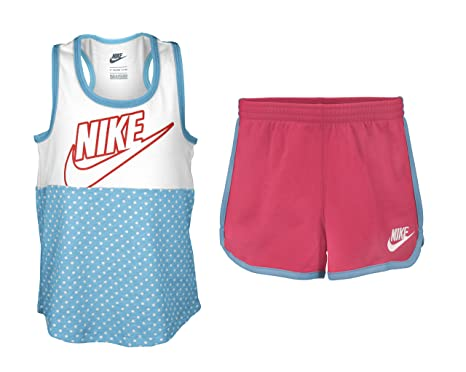 7d1faf55a57f Amazon.com  Nike Toddler Girls Graphic Tee   Athletic Bottom Set ...