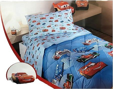 Piumone Letto Singolo Cars.Disney By Caleffi Trapunta Cars Team 95 Azzurro Singolo Amazon It Casa E Cucina