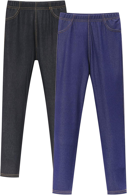 Adorel Jeans Leggings Jeggings da Bambina Confezione da 2