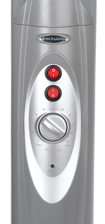 amazon com bionaire silent micathermic console heater gray home