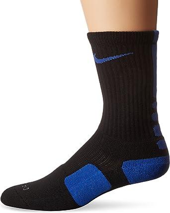 Nike Elite Basketball Crew Socks (XL (Mens Shoe 12-15), BLACK/GAME ROYAL)