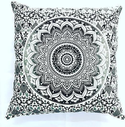 "Black Soft Cushion Case 40 cm Ethnic Classy Plain Pillow Case Throw 16""X 16"""