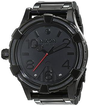 Nixon hombre-reloj 51-30 pagre Negro analógico de cuarzo de acero inoxidable A172SW2244-00: Amazon.es: Relojes