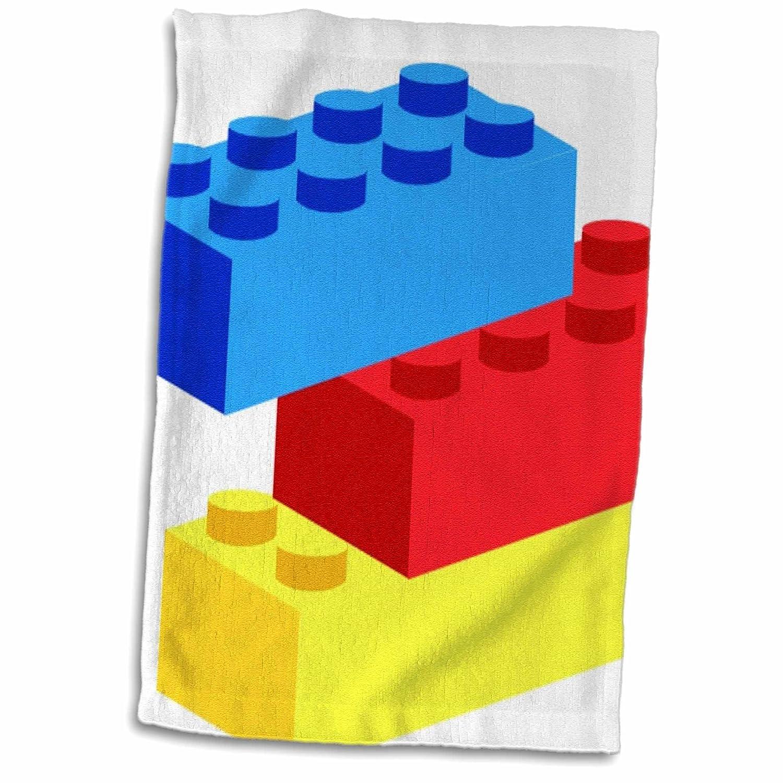 3dローズFlorene ChildrensアートII – レッドイエローブルーBuilding Blocks – タオル 15x22 Hand Towel twl_41703_1 B01L7R3HXQ  15x22 Hand Towel
