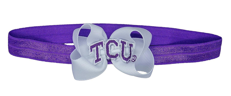 ecc983001d3f0a Divine Creations NCAA TCU Horned Frogs Baby Stretch Headband