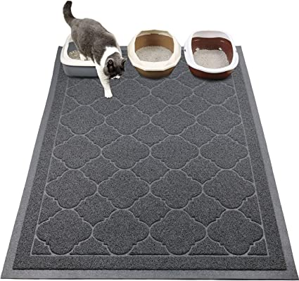 Urine Waterproof M Size WePet Cat Litter Mat Washable Premium Durable Soft PVC Rug 30 x 20 Inch Scatter Control Easy Clean Kitty Litter Trapping Mat No Phthalate