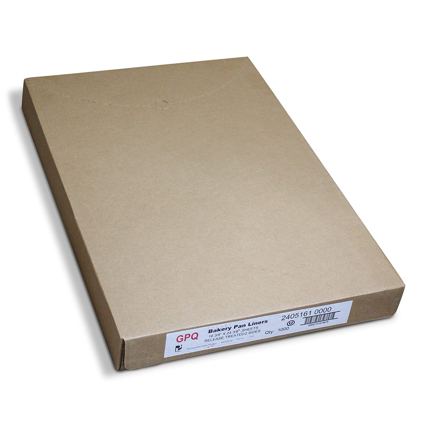 """Pan Liners for Commercial Baking Bulk - 1000 Count - Full Sized 16.38"""" x 24.38"""" - White - 425F - Grease Proof Paper Quilon Coating - Standard Release Sheets for Bakeries, Restaurants, and Catering"""