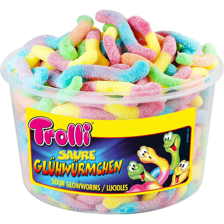 Trolli Sour Glowworms 150 pieces (1050 grams)