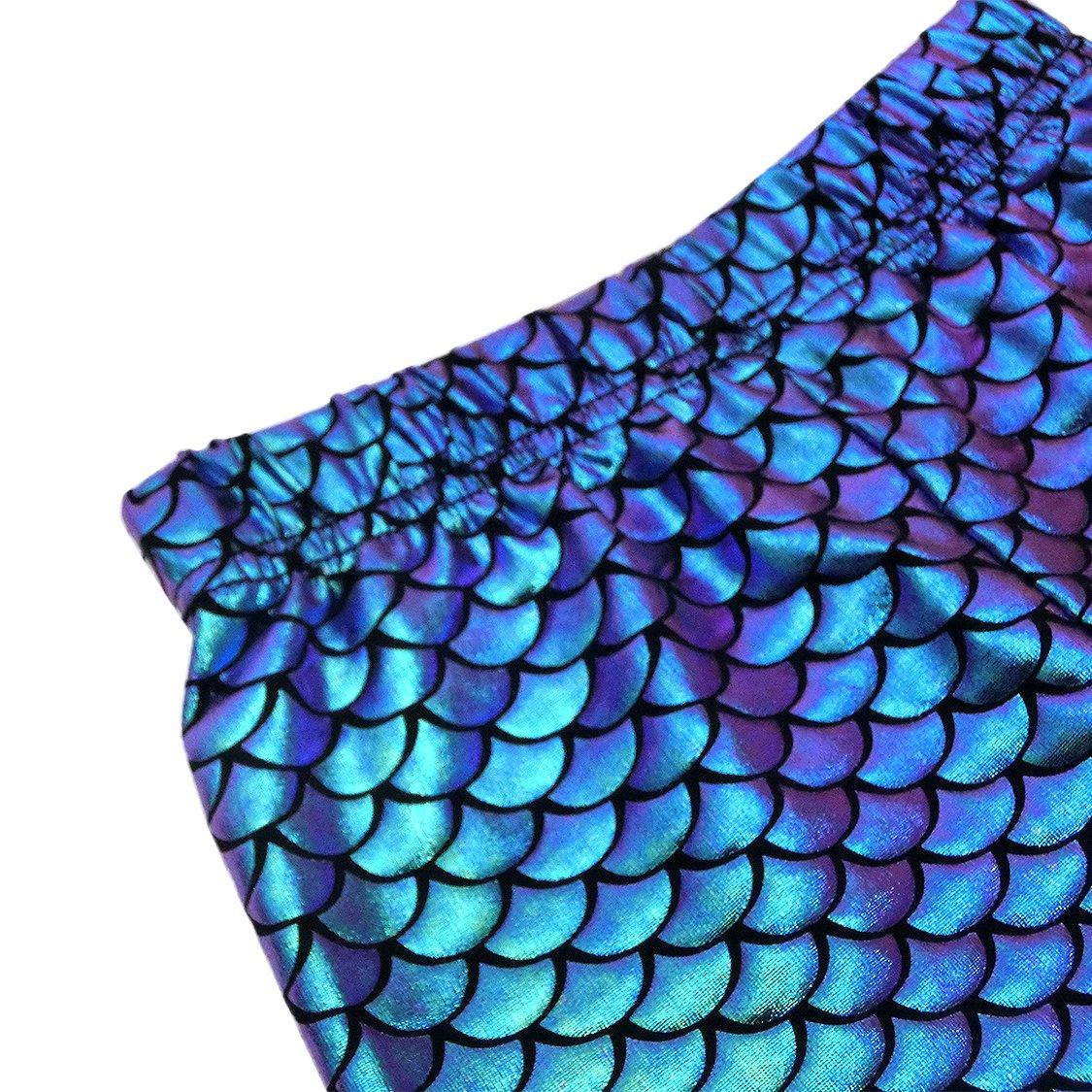 VIEWIM Toddler Baby Girls Clothes Mermaid Fish Stretch Long Leggings Pants 1-5 Years by VIEWIM (Image #3)