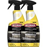 Weiman Oven & Grill Cleaner - 24 Ounce - 2 Pack - Broiler & Drip Pans, Oven & Ceramic Grill Interiors, BBQ Grill Grates