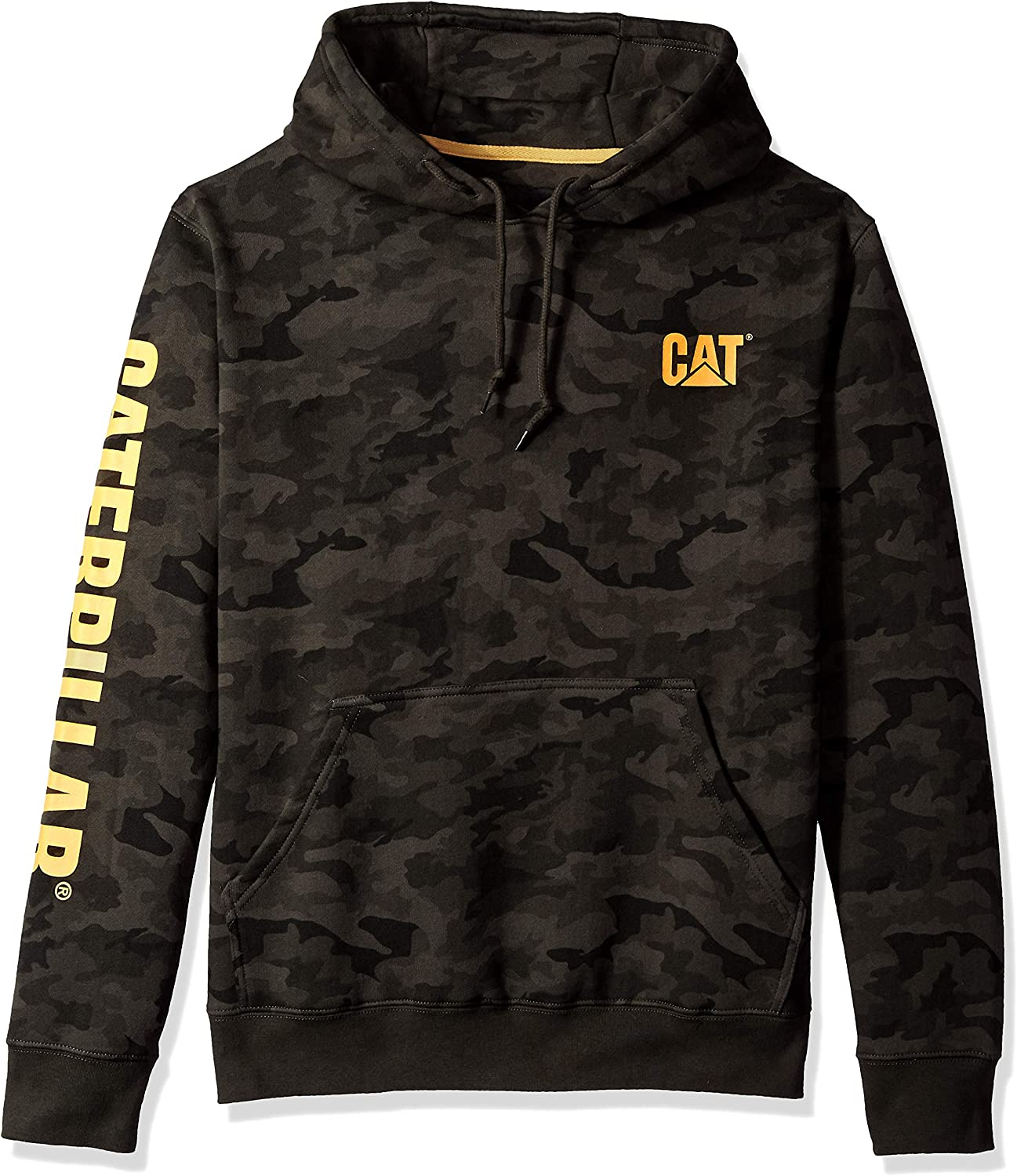 Caterpillar Men's Trademark Banner Hooded Big Tall Sweatshirt