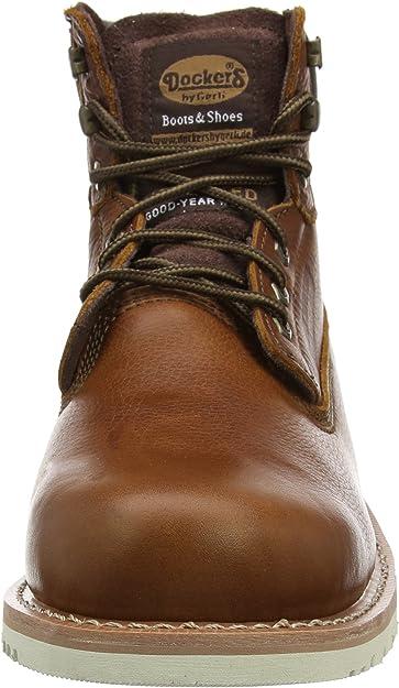 DOCKERS bottes chaussures en cuir pour Hommes Bottes à lacets 33cr001