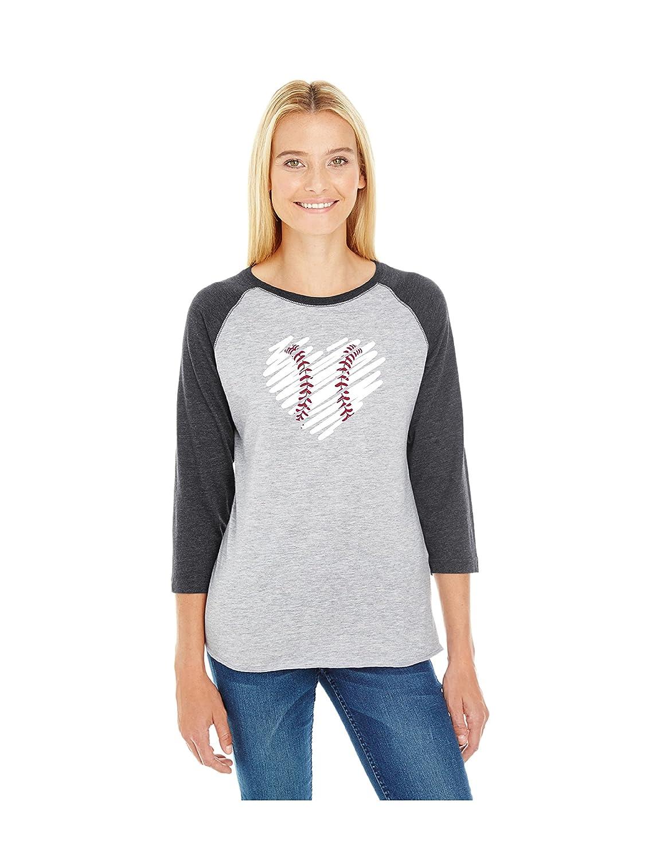 Hot Devious Apparel Scribble Heart Jersey TM-12 Baseball Softball Team Mom Tee Printed Women's free shipping