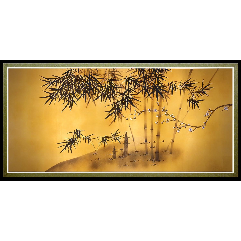 Amazon.com: Oriental Furniture Bamboo Tree Canvas Wall Art: Posters ...