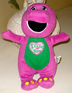 Barney the Dinosaur Plush Singing I Love You - 10 Inches