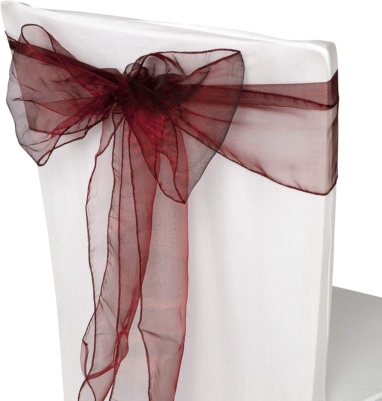 No/ël F/êtes,/Év/énement D/écoration,17cm x 280cm Anniversaire WedDecor Organza /Écharpe pour Housses Chaise Fuller N/œud Rubans en Or Ancien pour Banquet Bordeaux Anniverysary