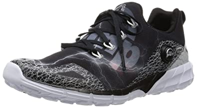 Reebok Men's Zpump Fusion 2.0 Spdr Black, Grey and White Running Shoes ...