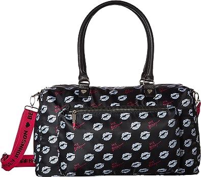 5bcf7c4d8e8a Amazon.com  Betsey Johnson Women s Sporty Weekender Bag Black Multi One  Size  Shoes