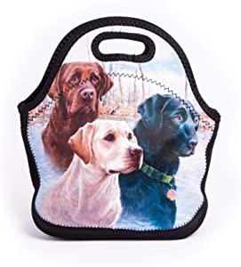 Cute Dogs Thermal Neoprene Waterproof Kids Insulated Lunch Portable Carry Tote Collection by Labrador Retrievers Picnic Storage Bag Lunch box Food Bag Gourmet Handbag For School work Office