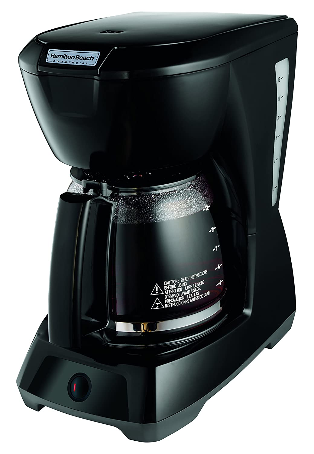 Hamilton Beach Commercial HDC1200 12 Cup Coffeemaker Black with Glass Carafe | Hospitality Rated