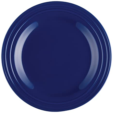Rachael Ray Dinnerware Double Ridge Dinner Plate Set 4-Piece Blue  sc 1 st  Amazon.com & Amazon.com | Rachael Ray Dinnerware Double Ridge Dinner Plate Set 4 ...