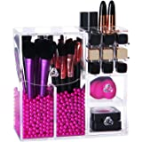 Lifewit Langforth 5mm Thick Acrylic Makeup Organizer Case with Rosy Pearl, Type2
